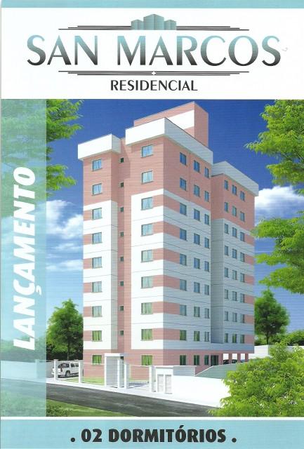 Apartamento 2 dormitórios, 1 vaga, Residencial San Marcos, Ref.: 2515